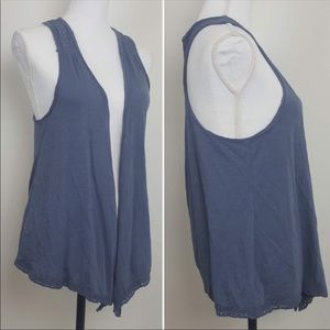AMERICAN EAGLE  draped sleeveless open front top